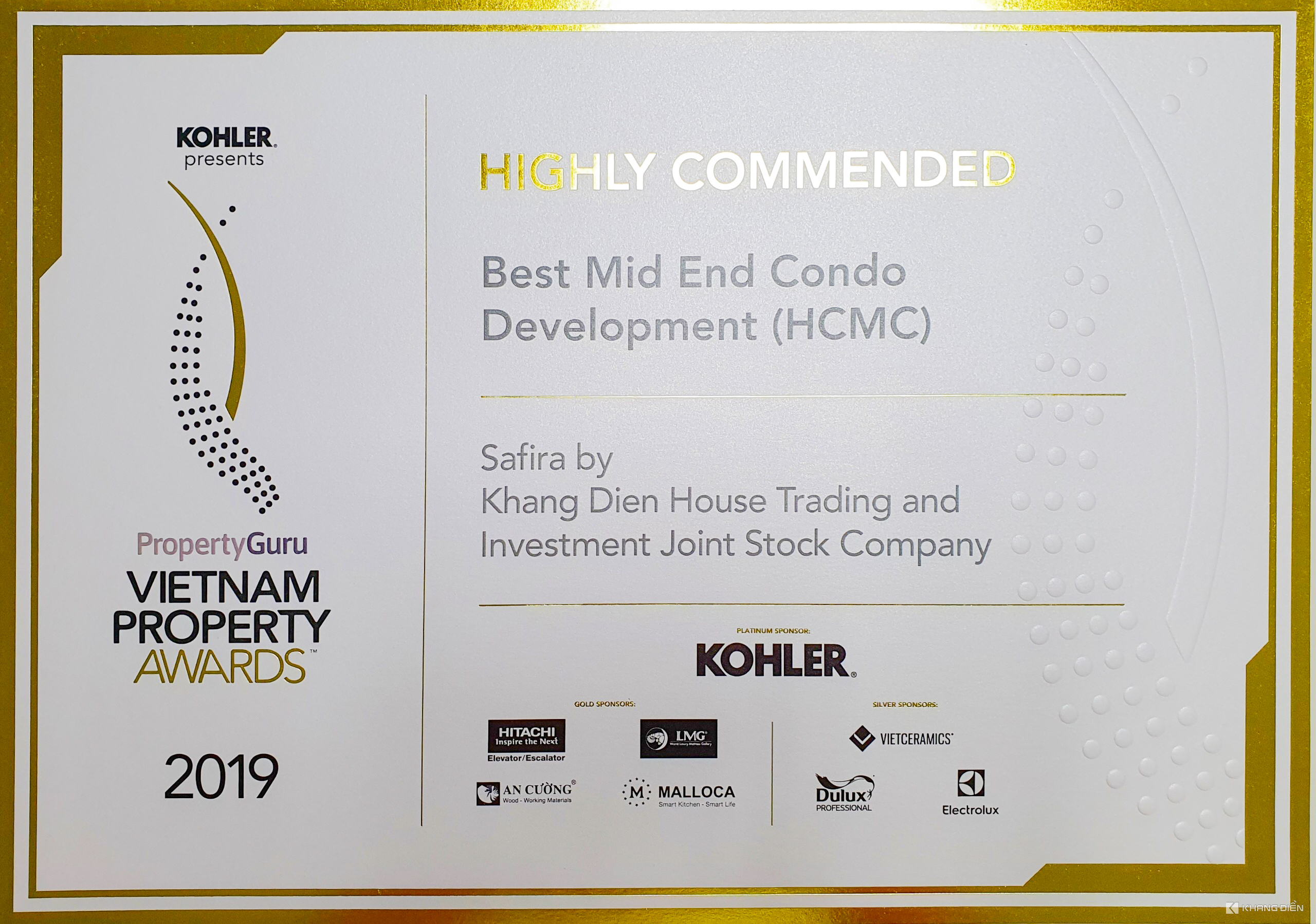 BEST MID END CONDO DEVELOPMENT (HCMC) - VIETNAM PROPERTY AWARDS 2019
