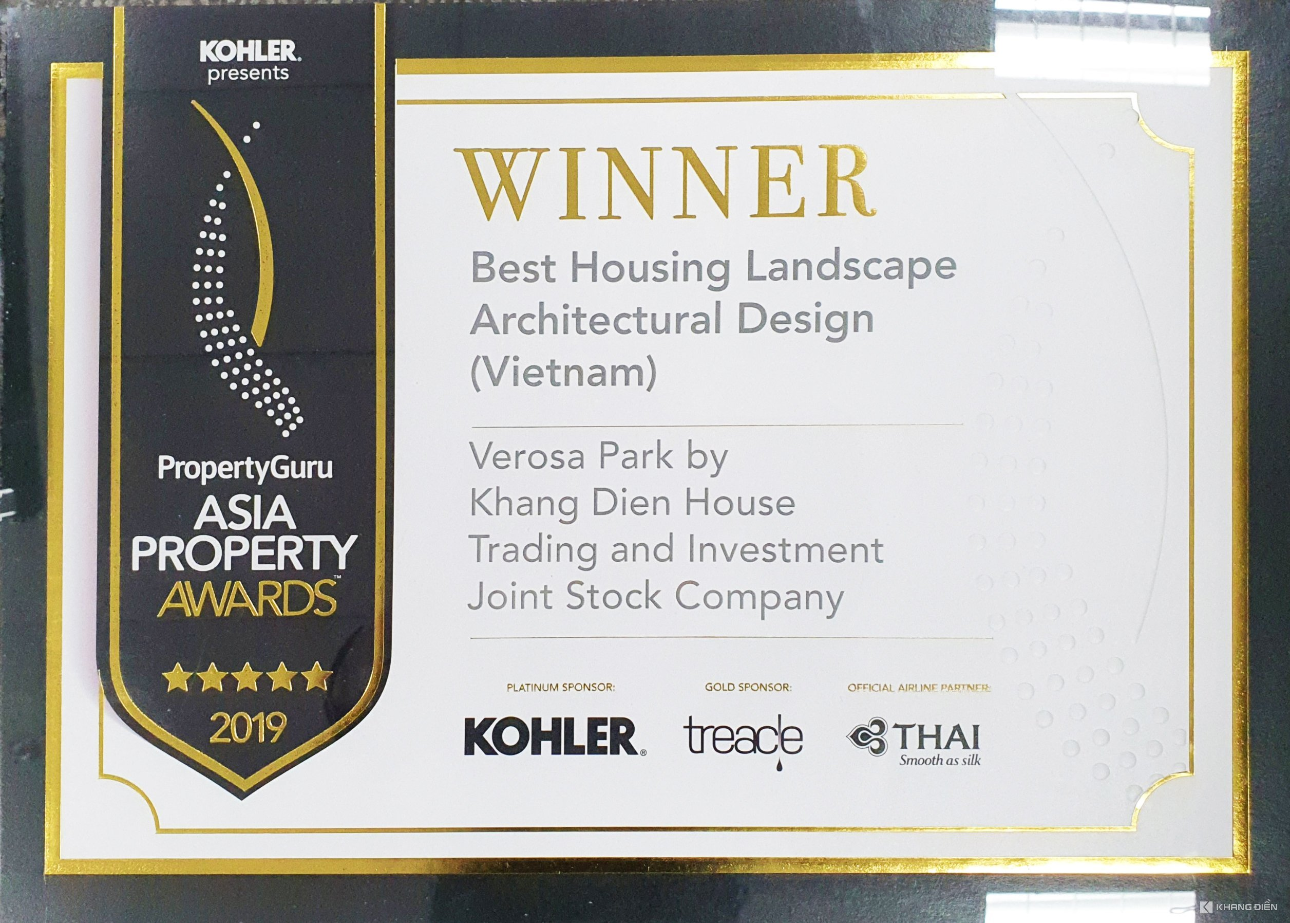 BEST HOUSING LANDSCAPE ARCHITECTURAL DESIGN - ASIA PROPERTY AWARDS 2019